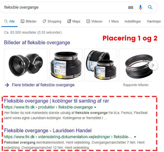 Kan man ramme en kloakmester på Google?